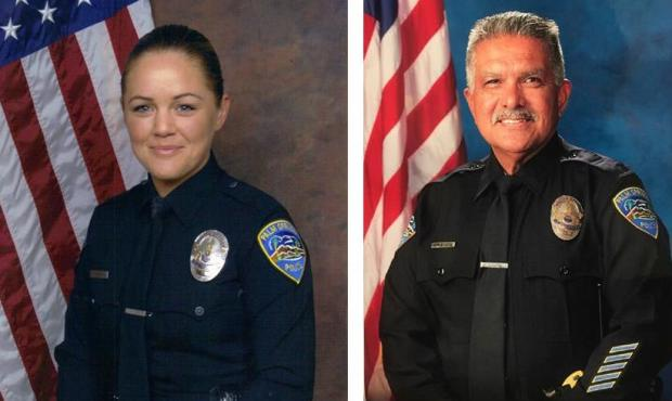 "Palm Springs police officers Lesley Zerebny and Jose ""Gil"" Vega were shot and killed on Oct. 8, 2016. (Photos courtesy of Palm Springs Police Department)"