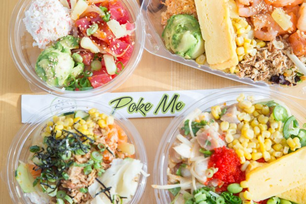 Poke Me restaurant chain offerings. Courtesy of Poke Me restaurants.