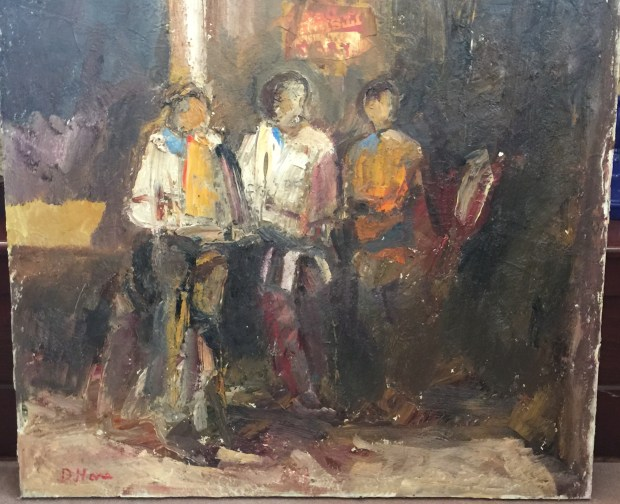 """3 Boys,"" a painting by Dennis Hare, is up for bids in the silent auction at Family Service Association of Redlands' Dinner in the Grove Sept. 23, 2017. (Courtesy Photo)"