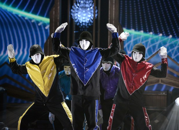 Jabbawockeez will perform an all-new show for Halloween Horror Nights at Universal Studios Hollywood starting Friday, Sept. 15 and running select evenings through Saturday, Nov. 4. (Photo by Dan Steinberg, Associated Press)