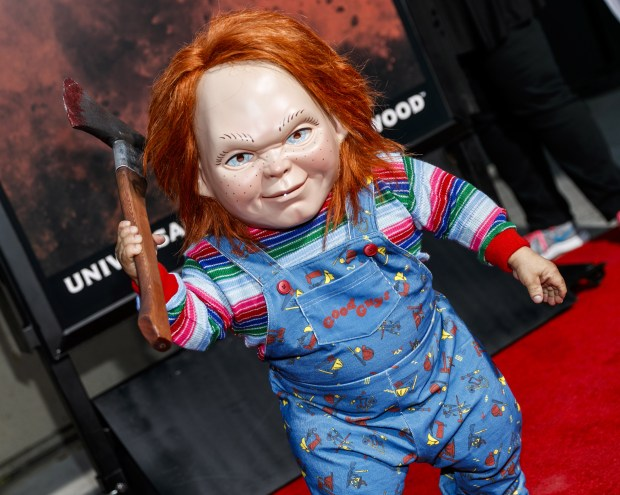 Chucky terrorizes the red carpet on Friday, Sept. 15 for the opening night of Universal Studios Halloween Horror Nights. (Photo by Rich Polk for Universal Studios Hollywood's Halloween Horror Nights)