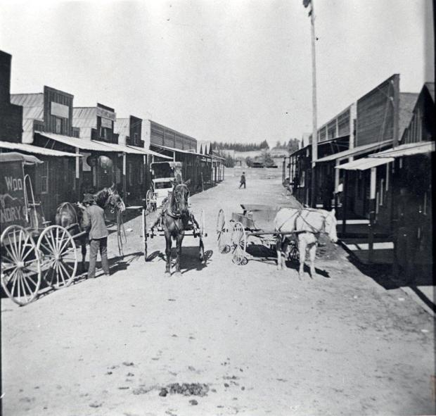 An archival photo of Chinatown in Riverside, circa 1895. (Courtesy of the Riverside Metropolitan Museum)
