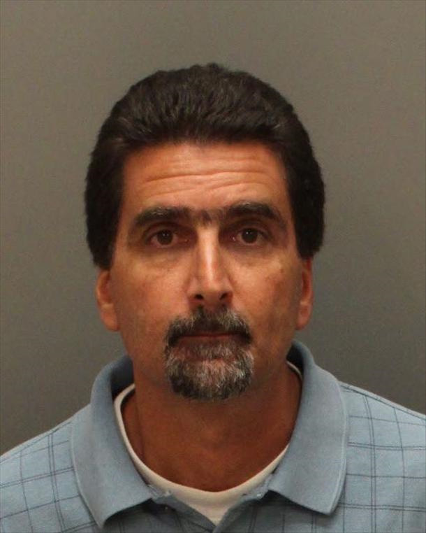 David Shaheen was arrested Monday night, Sept. 25, 2017, on suspicion of felony hit-and-run after authorities say he skirted a barricade blocking off roads during the Canyon fire in Corona. Courtesy of Corona Police Department