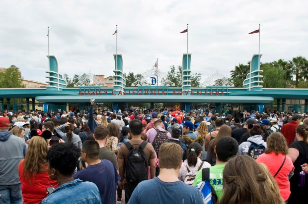 Disneyland can be expected to hit capacity crowds with the opening of Star Wars: Galaxy's Edge in 2019. (File photo by Joshua Sudock, Orange County Register/SCNG)