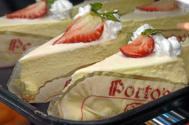 Porto's Bakery & Cafe is slated to break ground on a West Covina location in late summer or early fall 2018.(File photo of cheesecake at the Burbank Porto's by Michael Owen Baker/Los Angeles Daily News)