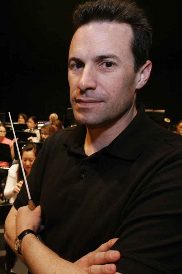 Chris Russell is the orchestra program coordinator at the Orange County School of the Arts. (Photo courtesy of Joshua Sudock, Orange County Register)