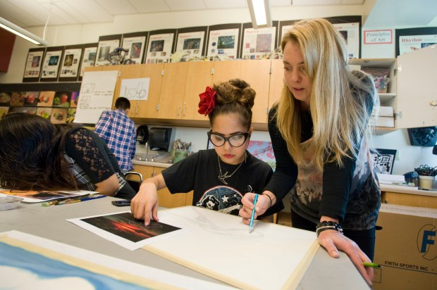 Daina Anderson teaches visual arts at Westminster High School. (Photo by Joshua Sudock, Orange County Register/SCNG)