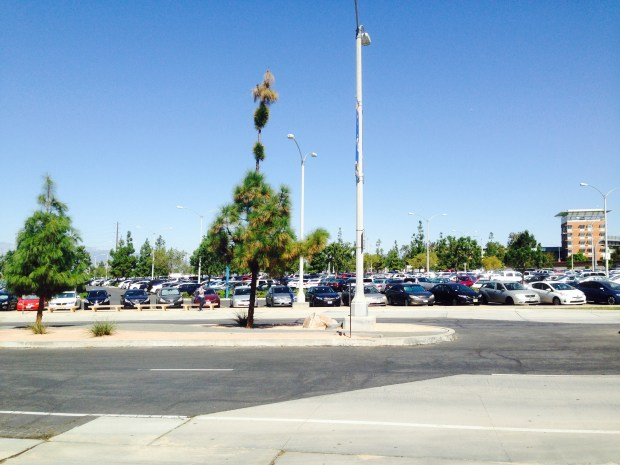 Parking at UC Riverside Thursday, Sept. 28. Imran Ghori, The Press-Enterprise/SCNG