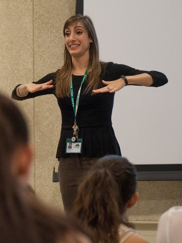 Noelle Robinson teaches dance at Sage Hill School. (Photo by Ana Venegas, Orange County Register/SCNG)