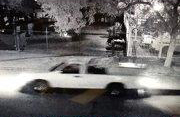 Ontario police released this surveillance image of a white pickup truck believed to have been carrying the refrigerator with a dead body inside that was left in the middle of South Hope Avenue early Tuesday, Sept. 5, 2017. (Photo courtesy of Ontario Police Department)