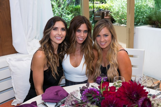 Lydia McLaughlin, Audrina Patridge and Alissa Circle attend the VIP luncheon. Fig&Olive for Style Week OC.