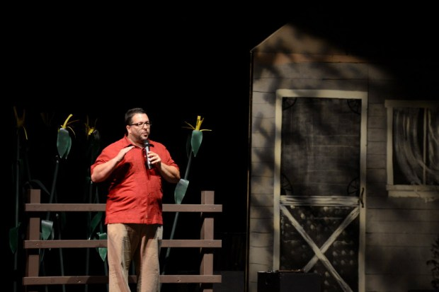 Terry Schwinge teaches theater arts at Santa Ana High School. (Photo by Anibal Ortiz, Orange County Register)