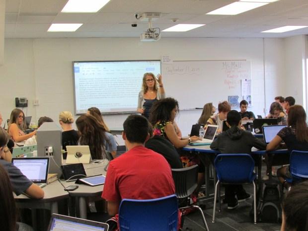 Vicki Mull teaches media arts at El Modena High School. (Courtesy of Andrea Mills)