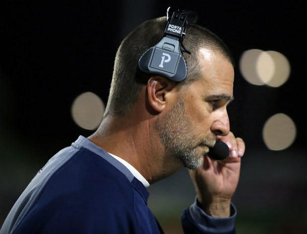 The Heritage football program, led by coach Kraig Broach, has a 35-0 record since joining the Sunbelt League.(Photo by Greg Andersen, Contributing Photographer)