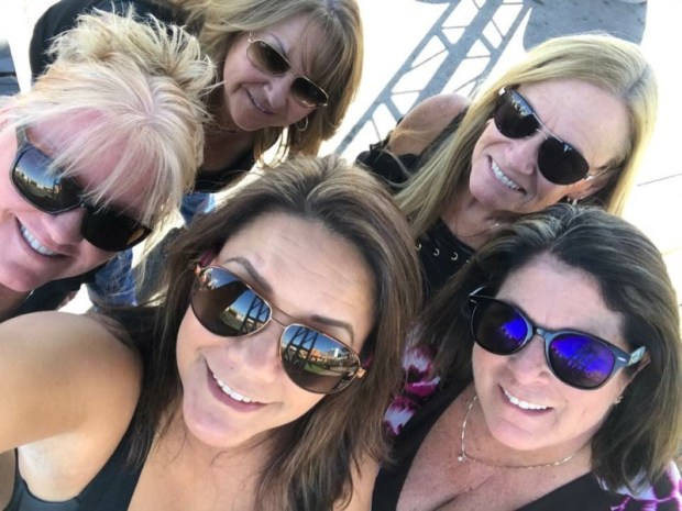 Shirley Miller of Riverside and friends attended the Route 91 Harvest concert that abruptly ended in a rain of automatic gunfire. Before the massacre, they took this photo. In the front, from left to right, are Stacey J. Costa, Norma Garcia Roffers and Diane Tauli. In the back are Miller and Christine Goody Johnson.