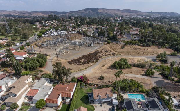 This is the site of SDG&E's South Orange County Reliability Enhancement project, an expansion of the utility's substation in San Juan Capistrano and electrical lines between San Juan and San Clemente. (File photo by Jeff Gritchen, Orange County Register/SCNG)