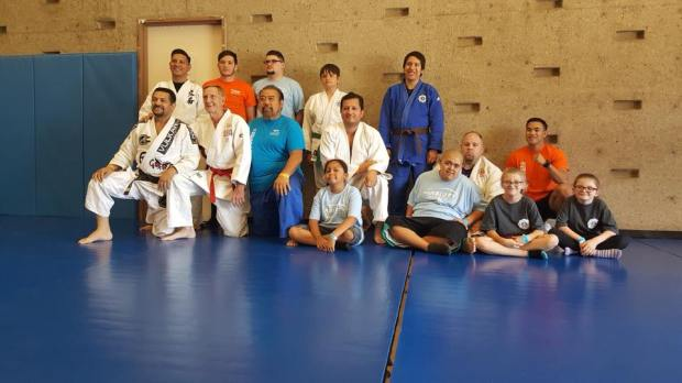 Judo was one of the sports offered at Cal State San Bernardino's 11th annual DisABILITY Sports Festival on Saturday, Oct. 7. More than 700 athletes with disabilities participated. (Photo courtesy of Cal State San Bernardino)