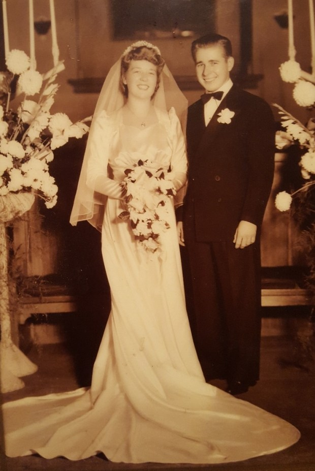 Fred and Audrey Fredensburg married in 1942. (Courtesy of Julie Fredensburg-Tyner)