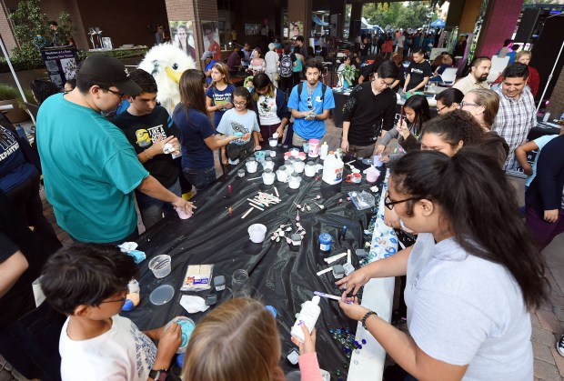 Hundreds turned out Thursday evening October 12, 2017 in downtown Riverside to take part in the fourth Long Night of Arts and Innovation. The event is filled with hands on science, technology, dance, math and art programs. (Will Lester-Inland Valley Daily Bulletin/SCNG)