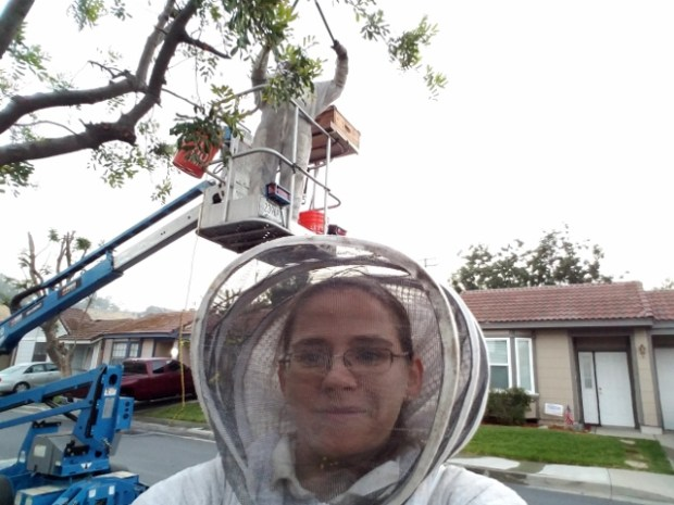 Beekeeper Amanda Plunkett will present a program for Redlands Horticultural and Improvement Society. (Courtesy Photo)