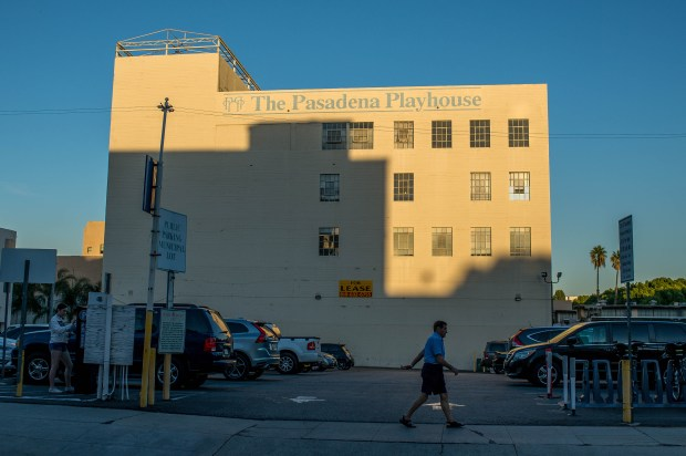 Desperate to add green space to Pasadena's urban center, the city is considering converting parking at 50 South Madison Avenue, seen on Monday, Oct. 16, 2017, to park space. (Photo by Sarah Reingewirtz, Pasadena Star-News/SCNG)