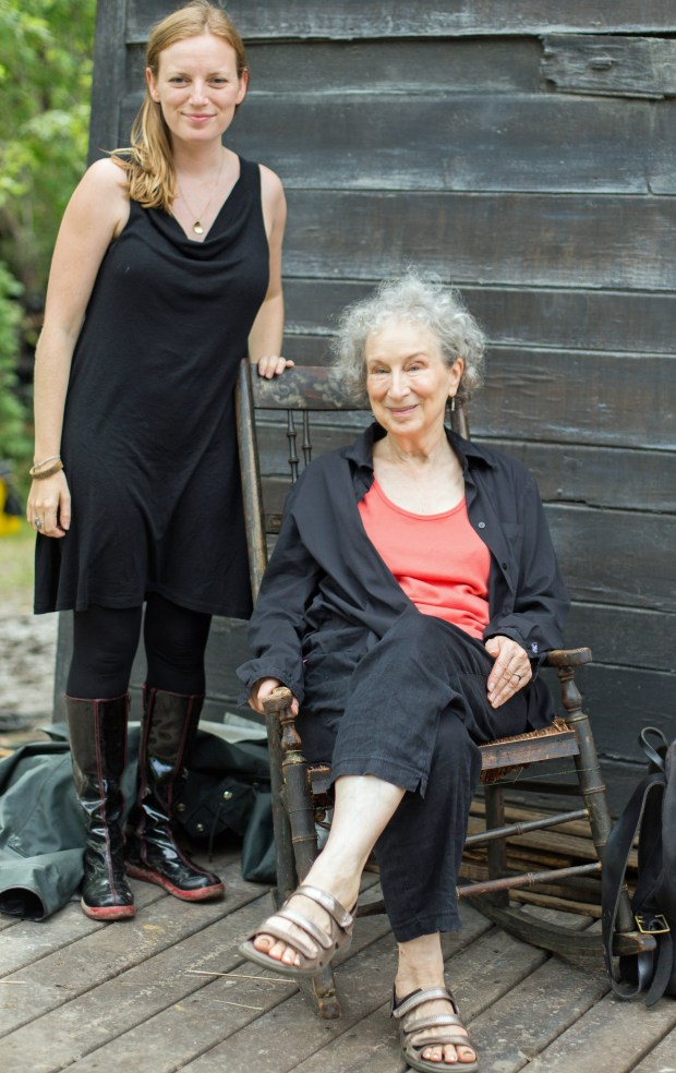 Sarah Polley and Margaret Atwood.