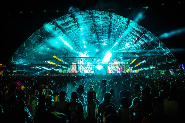 Dillon Francis fans packed the Sahara tent as he performs at Coachella Valley Music and Arts Festival in Indio on Friday, April 21, 2017. (Photo by