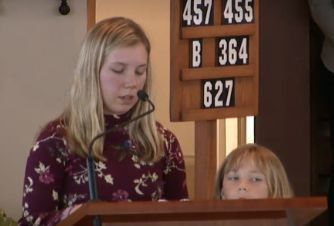 Amber and Brooke Patterson speak at their mother's funeral.
