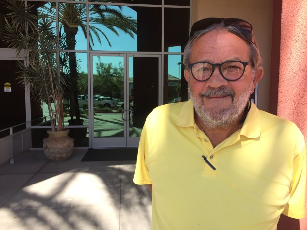 """Ron Atkins, creator of the Laguna Woods Renters Association, has rented in the community for five years. He said the renters in the community have """"no voice"""" and are being treated unfairly. Photo by Emily Rasmussen"""