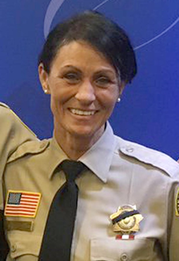 Kimberly Watkins, a San Bernardino County Sheriff's patrol sergeant, was attacked and stabbed by a man after she responded to a call in the parking lot of a Rancho Cucamonga Hobby Lobby. Watkins was taken to Loma Linda University Medical Center where she is recovering from her wounds. (Courtesy photo)