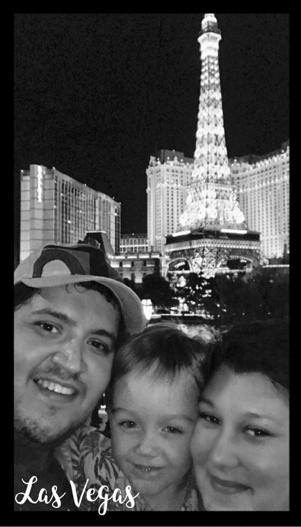 Azusa resident Arturo Valencia (left), his wife Jennifer and 5-year-old son Enzo were less than a mile away from the Mandalay Bay Hotel and Casino when a gunman opened fire from the 32nd floor of the resort Sunday, Oct. 1, 2017. (Photo courtesy of Arturo Valencia)