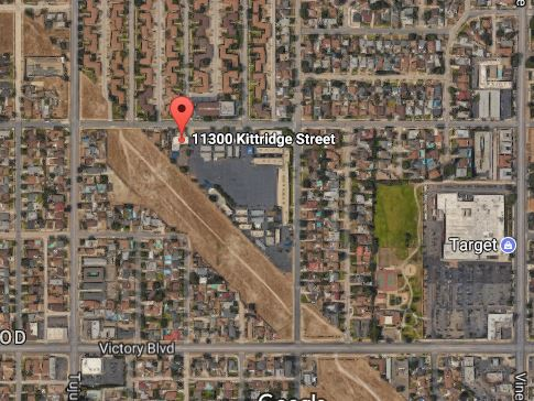 A fire occurred on Oct. 20, 2017 at the 11300 block of Kittridge Avenue in North Hollywood, authorities said.