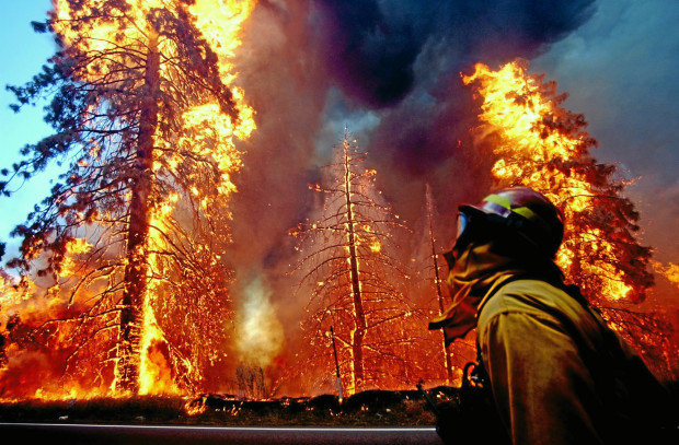 The Old Fire, fanned by Santa Ana winds, burned thousands of acres, destroyed hundreds of homes and caused six deaths in 2003. (Staff file photo/The Sun)