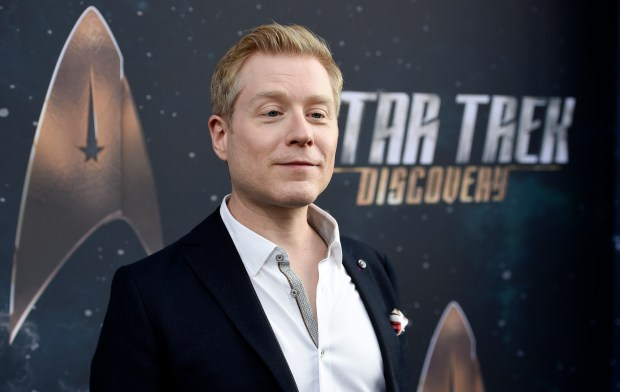 "Anthony Rapp, cast member in ""Star Trek: Discovery,"" at the premiere of the new television series in Los Angeles Sept. 19, 2017. The actor alleges Kevin Spacey made sexual advances on him when he was a teenager. (Photo by Chris Pizzello/Invision/AP, File)"