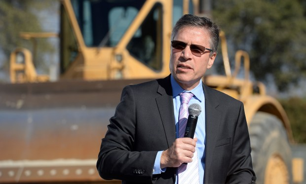 Harlan Levine, MD, Chief Executive for the City of Hope Medical Foundation, speaks prior to a ground breaking ceremony Tuesday November 14, 2017 across the street from the San Antonio Regional Hospital in Upland for the soon to be constructed City of Hope Cancer Center. (Photo by Will Lester-Inland Valley Daily Bulletin/SCNG)