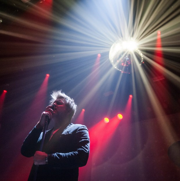 James Murphy of LCD Soundsystem performs during the first of five nights at the Hollywood Palladium in Hollywood on Friday, November 17, 2017. (Miguel Vasconcellos, Contributing Photographer)