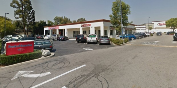 A now-former manager at Chipotle Mexican Grill locations in Woodland Hills, seen above, and Malibu, alleges in a lawsuit that he was fired on Oct. 3, 2017, on the basis of a unsubstantiated sexual-harassment complaint. (Google Street View)