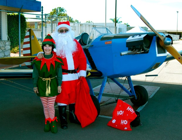 Santa will again land at the Fullerton Airport for its annual Santa Day on Dec. 10. (File photo)