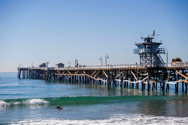 The San Clemente pier in San Clemente on Wednesday, November 22, 2017. The pier is undergoing a slow restoration with the help of the San Clemente PierPride Foundation. (Photo by Paul Rodriguez, Orange County Register/SCNG)