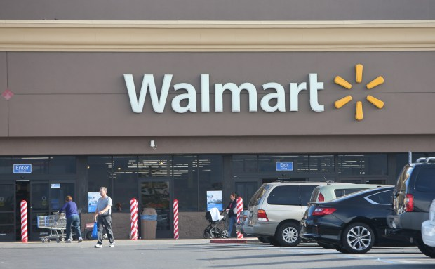 An anonymous person has paid for a large amount of items put in on layaway at this Wal-Mart in Corona. (Stan Lim, The Press-Enterprise/SCNG)