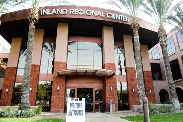 The main entrance of the Inland Regional Center in San Bernardino, Calif. on Monday, Nov. 21, 2017. The IRC is among the winners of the Top Workplaces survey. (Photo by Rachel Luna, The Sun/SCNG)