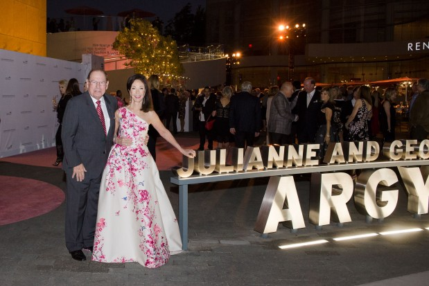 George and Julianne Argyros, lead donors of the plaza.