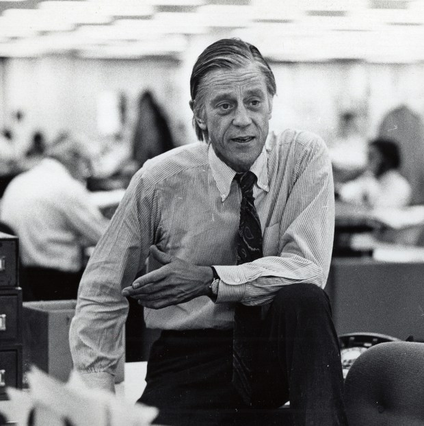 "Archival photo of Washington Post executive editor Ben Bradlee who is the subject of the HBO documentary ""The Newspaperman: The Life And Times Of Ben Bradlee,"" debuting Nov. 4."