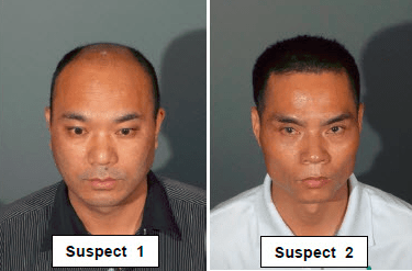 Two men were arrested Oct. 27 in Walnut for conducting a scam in which they sell fake gold. (Courtesy of Los Angeles County Sheriff's Department)