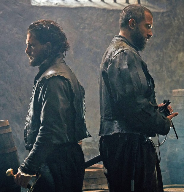 "Kit Harington and Tom Cullen in HBO's ""Gunpowder."""