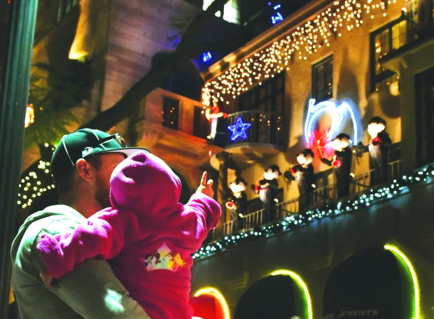 A girl enjoys the Mission Inn's Festival Of Lights on Wednesday December 2, 2015. (File photo by Milka Soko)