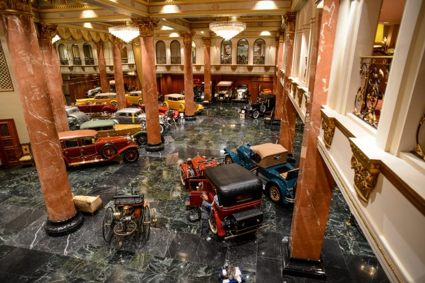 Inside large unassuming buildings in Sylmar is the Nethercutt Collection of cars and musical instruments. Each one of a kind car in the collection is kept in top condition and in running order. Photo by David Crane/Staff Photographer