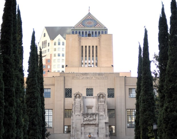 The Richard J. Riordan Central Library in Los Angeles. (Photo by Hans Gutknecht/Los Angeles Daily News)