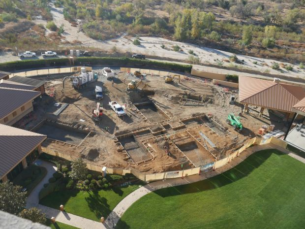 Work has begun on Pala's new pool complex.