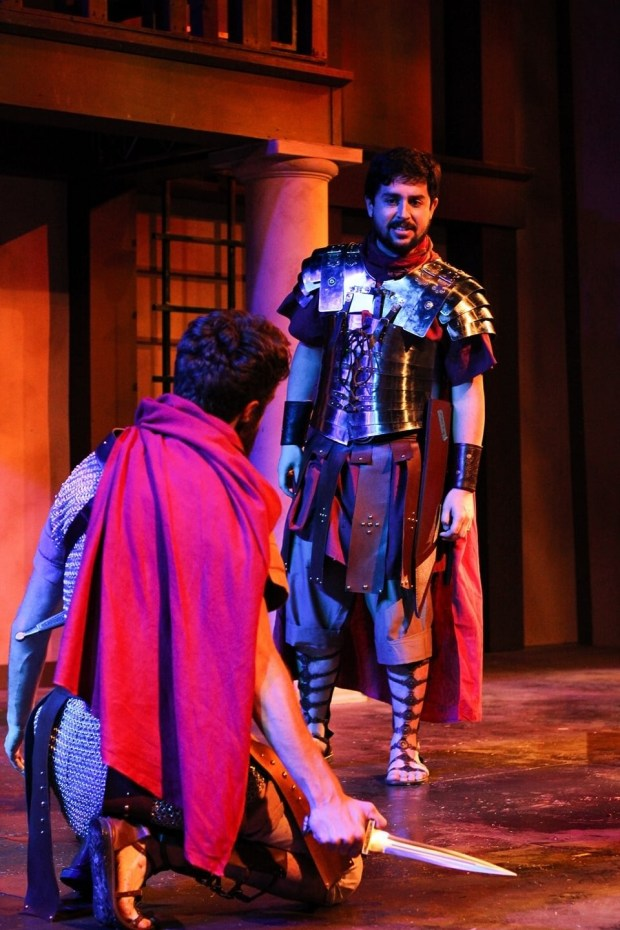 "Michael Ring, seen here portraying Brutus in ""Julius Caesar,"" is set to appear in ""Asleep in the Arms of God"" Nov. 3 through 5, 2017 in Riverside. (Photo courtesy of Michael Ring)"